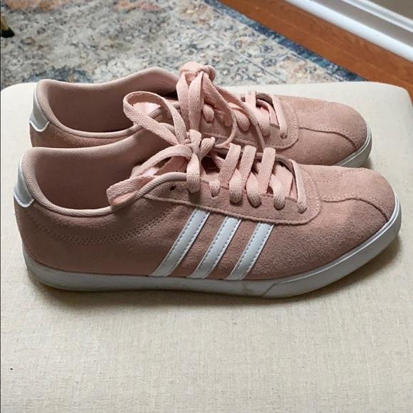adidas Shoes | Adidas Neo Courtset Blush Pink Suede | Poshmark